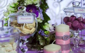 food, wedding, holiday, sweet, dessert, decor, maccarone