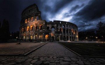 италия, колизей, рим, roma, италиа, dark coliseum