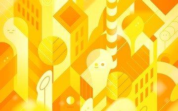 рисунок, желтый, абстракция, вектор, цвет, жёлтая, aбстракции, валлпапер, nexus 5