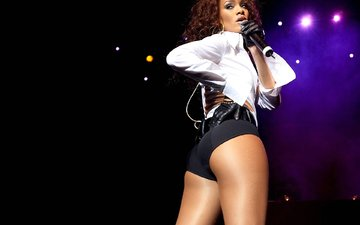 microphone, look, model, actress, singer, rihanna