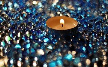 фокус камеры, макро, блики, свечка, свеча, боке