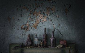 background, wall, bottle