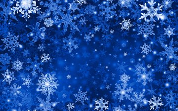 new year, winter, snowflakes, vector, pattern, paint, snowflake