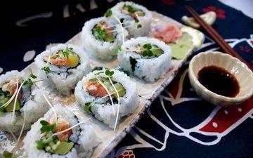 зелень, япония, рыба, краб, японии, рис, суши, роллы, авокадо, морепродукты, японская кухня, огурец, лосось, japan food, суси