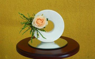роза, бутон, композиция, икебана