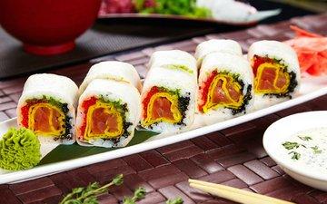 соус, начинка, суши, роллы, васаби