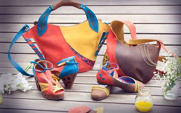 design, leather, shoes, fashion, bags, sandals, bright