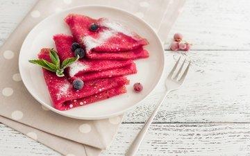 ягоды, берри, выпечка, блинчики, блины, панкейк