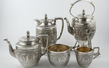 tea, silver, tea set, scottish tea set, tea service