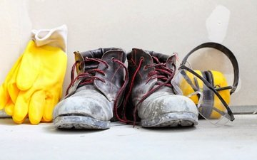 headphones, shoes, gloves, dust, safety shoes, hearing protection, siz, remedies