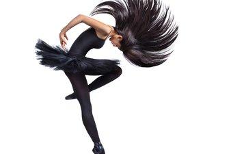 фон, ножки, волосы, пачка, балерина