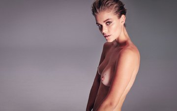 look, beauty, lips, nina agdal, hair, eyes, topless, model