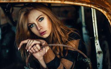 девушка, настроение, портрет, модель, волосы, окрас, автомобиль, мода, волос, ветхий, сексапильная, cinematic, модел, nпортрет