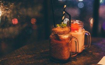 напиток, день, кружка, коктейль, на, rainy, refreshments