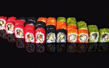 рыба, икра, суши, роллы, морепродукты, seafoods