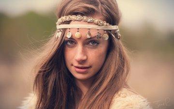 украшения, портрет, взгляд, рыжая, волосы, веснушки, рыжеволосая, nicole pogmore