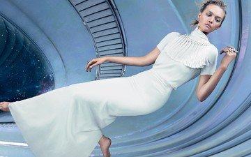 модель, актриса, космический корабль, фотосессия, невесомость, vogue, джемма уорд
