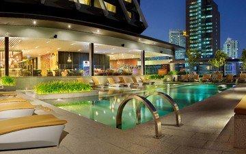 путешествия, курорт, таиланд, туризм, бангкок, лучшие отели, doubletree by hilton hotel, swimming pool