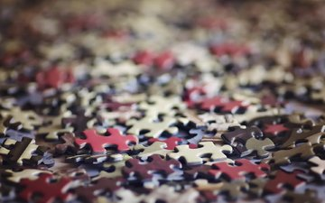 macro, background, the game, puzzles, puzzle, bokeh, leisure