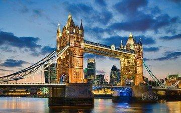 bridge, london, the city, england, bing