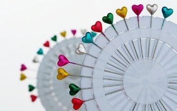 разноцветные, сердца, сердечки, окрас