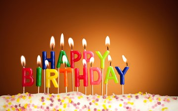 свечи, день рождения, торт, с днем рождения