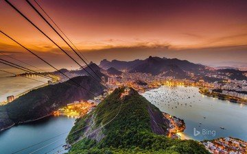 view, the city, brazil, rio de janeiro, bing