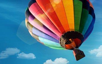 небо, полет, воздушный шар