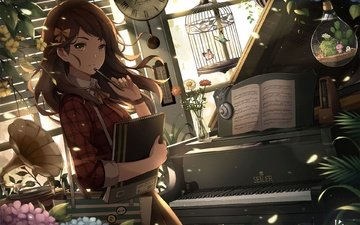 art, girl, anime, piano, cell, eugene