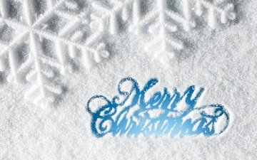 снег, новый год, зима, снежинки, рождество, xmas, декорация, счастливого рождества, елочная, merry, белоцветник