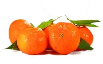 листья, фрукты, апельсины, плоды, мандарины, парное, свежие, листья