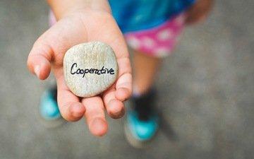 рука, надпись, буквы, дети, камень, ребенок, кооператив