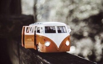 toy, transport, bus, bokeh, trip, toy car