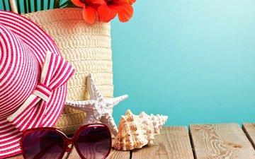 цветок, лето, очки, ракушки, шляпа, морская звезда, ушанка, солнечные очки, цветком, seashells, летнее, тенденции, морские звезды, солнцезащитные, accessory, sea-star, аксессуаров, морские раковины
