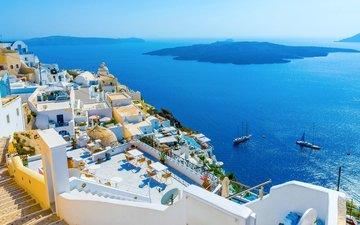море, город, греция