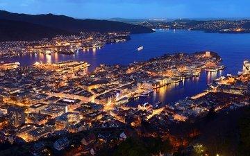 норвегия, гавань, норвегии, берген, harbor