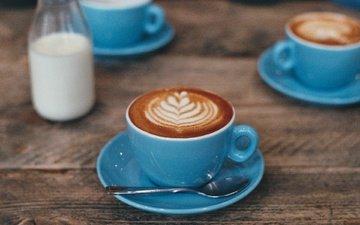 узор, еда, кофе, блюдце, чашка, завтрак, молоко, капучино, кубок, молока, feed, robusta, arabica, beverage