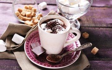 кофе, шоколад, сладкое, сахар, в шоколаде, сладенько