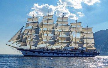 корабли, корабль, мачты, паруса, парусники