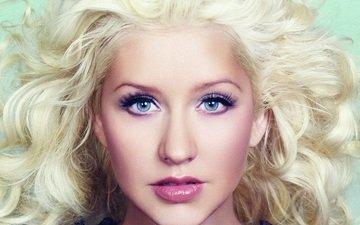 блондинка, певица, кристина агилера