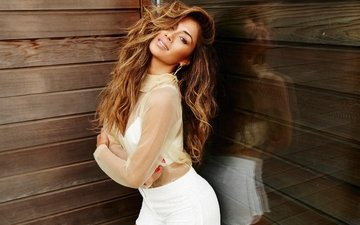 girl, pose, smile, hair, face, singer, nicole scherzinger