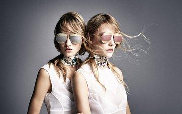 очки, девушки, модели, блондинки, 2016, весенние, летнее, patrick demarchelier, dior