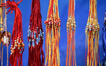 decoration, india, rakhis, strand