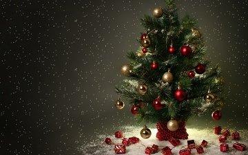 снег, праздник, ёлочка, снежок, новогодние игрушки, праздник. ёлочка