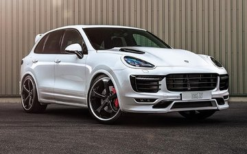 white, tuning, porsche, cayenne, techart, atelier, turbo