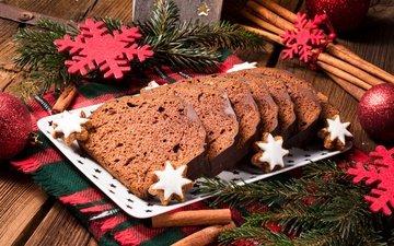 новый год, елка, шары, снежинки, доска, корица, рождество, шоколад, сладкое, печенье, выпечка, пирог, в шоколаде, декорация, декор, елочная, baking, кулебяка