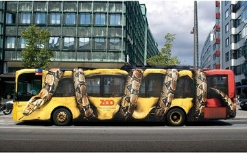 the city, creative, bus, airbrushing