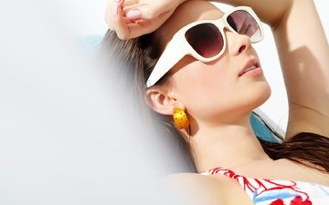 женщина, красивая девушка, солнечные очки, солнцезащитные очки