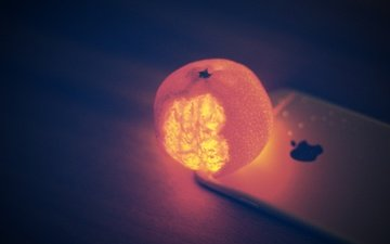 backlight, mandarin, iphone
