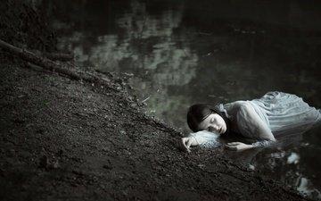 река, девушка, sylwia mastalerz